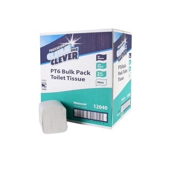 Clean & Clever Bulk Pack Toilet Tissue