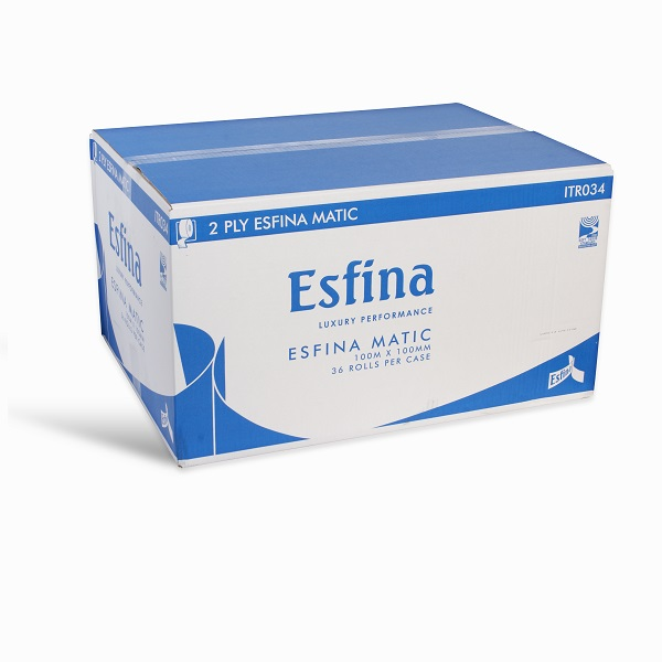 Esfina Matic Toilet Roll 2ply White