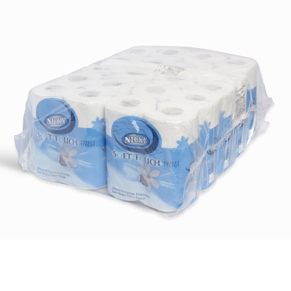 2ply White Nicky Soft Touch Toilet Roll