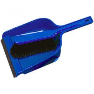 Blue soft dust pan & brush set