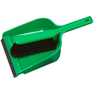 Green dustpan & brush set
