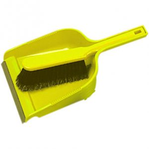 Yellow soft Dust pan & brush set