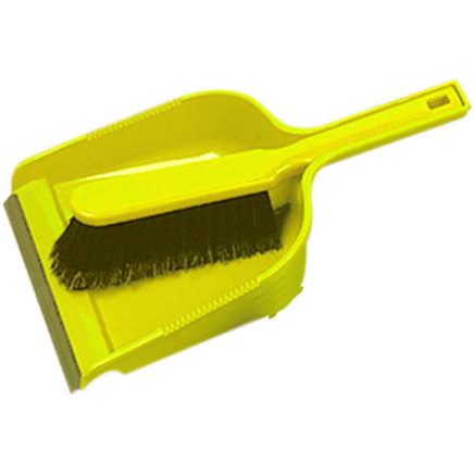 Yellow soft Dust pan & brush set